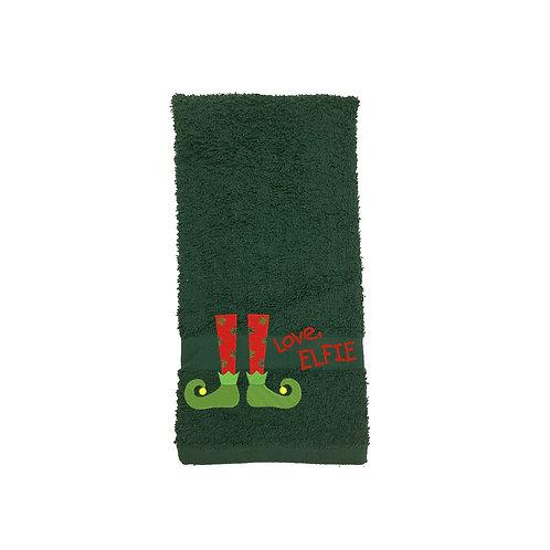 Christmas Elf Bathroom Hand Towel