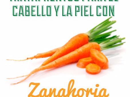 Tratamientos para el Cabello y la piel con Zanahoria