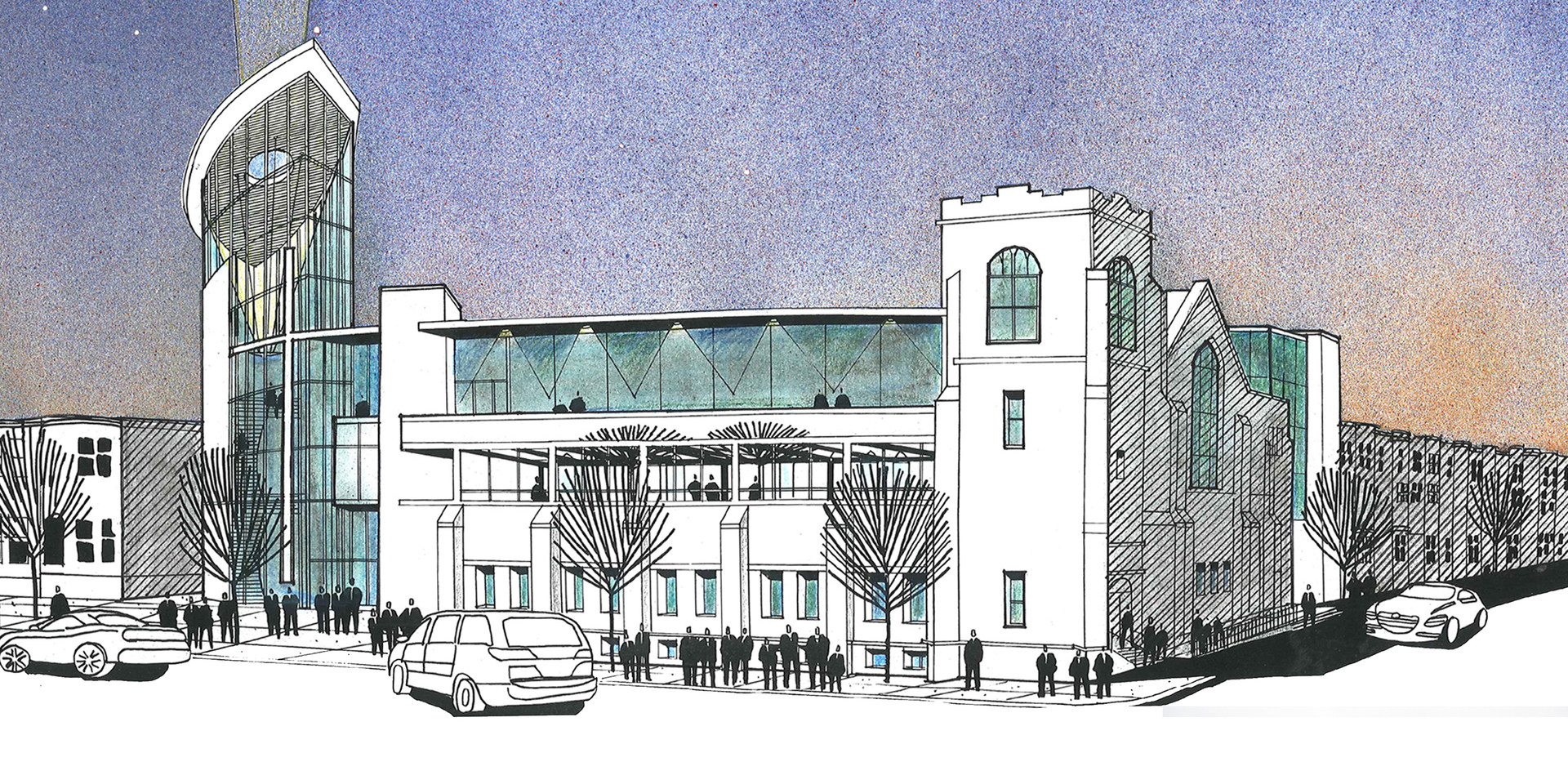 Zion Baptist Church Expansion -  Sketch