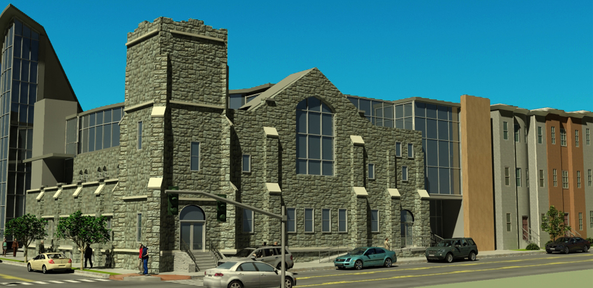 Zion Baptist Church - East Rendering