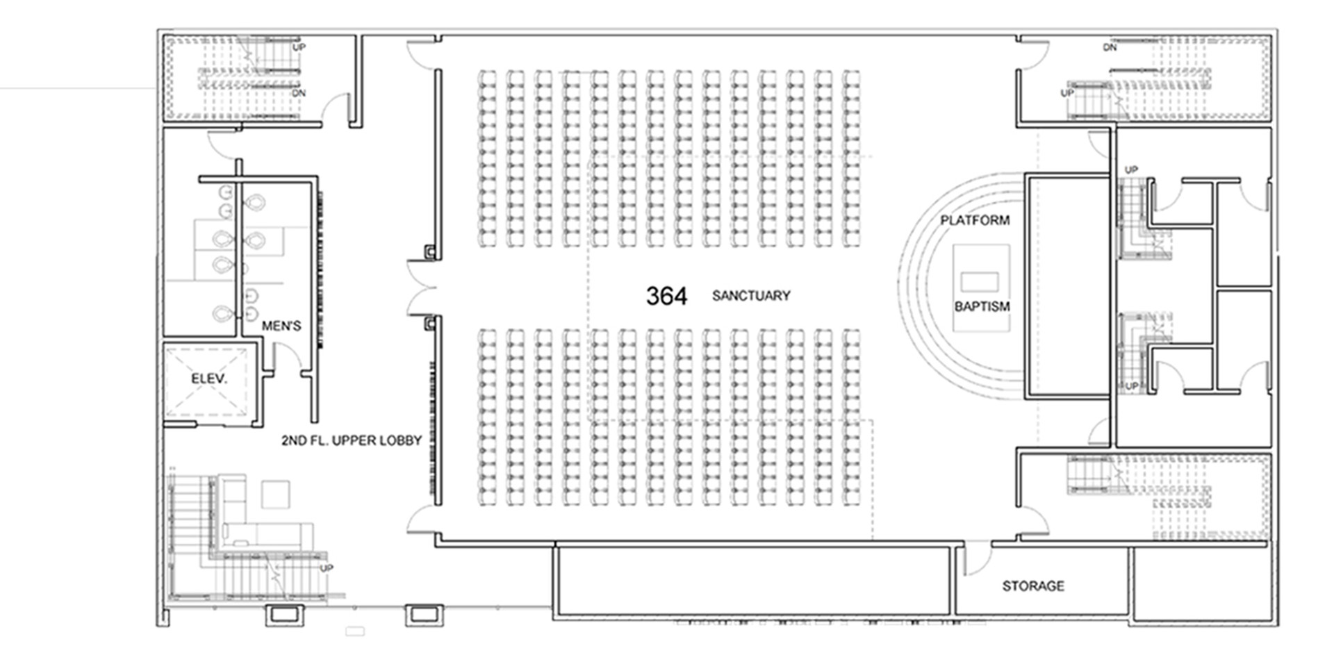 Sanctuary Church 2nd Floor Plan