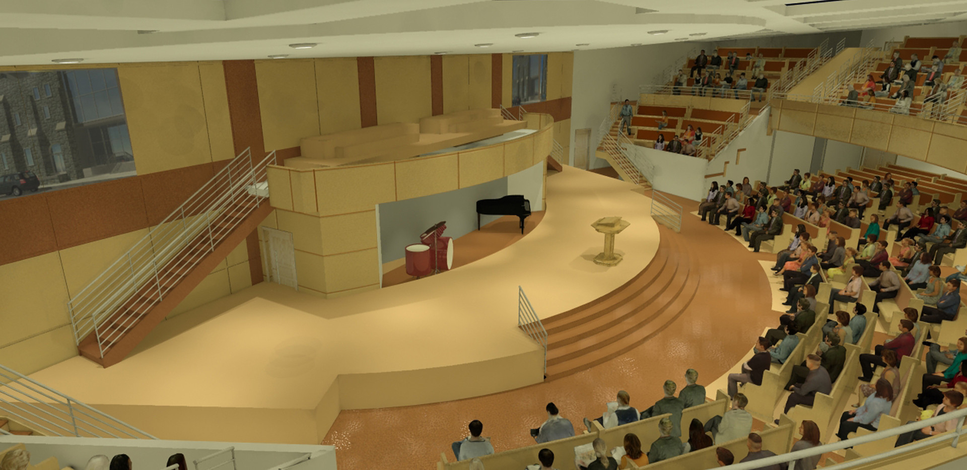 Zion Baptist Church - Interior Rendering