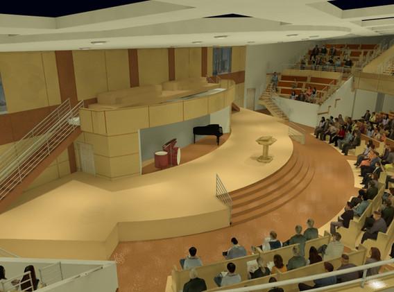 Zion Baptist Church - Interior Rendering