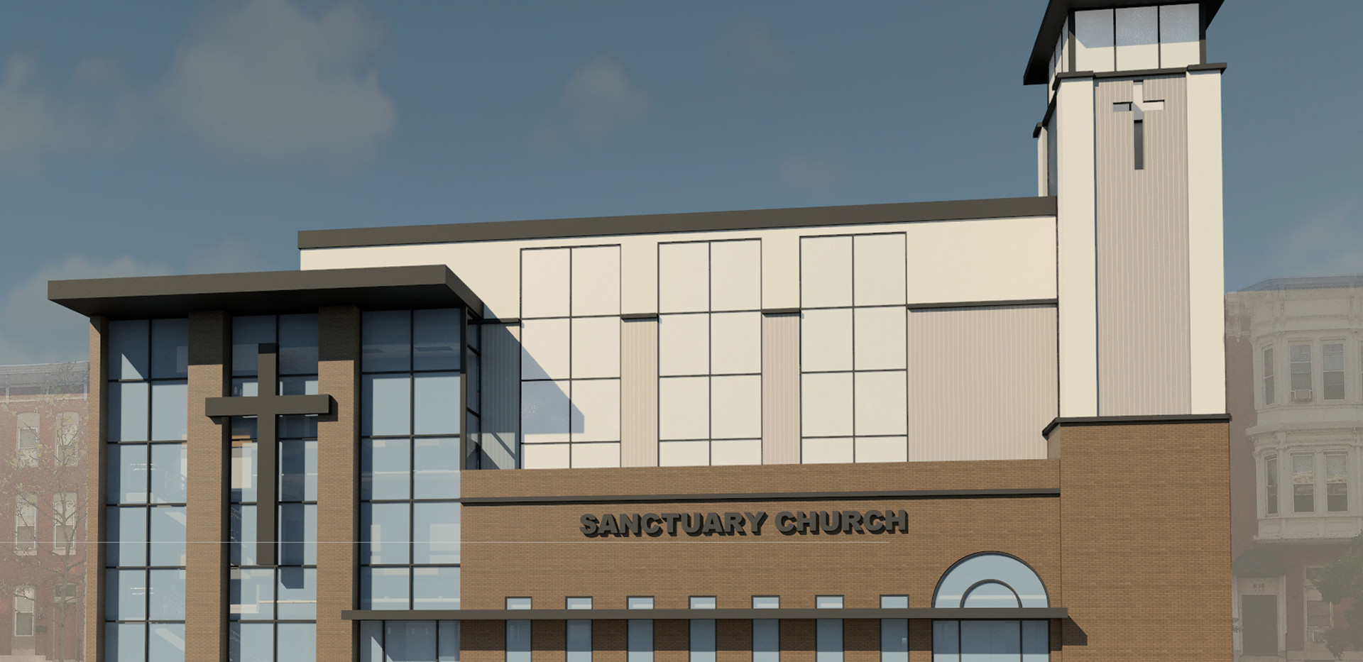 Sanctuary Church Day Time Elevation