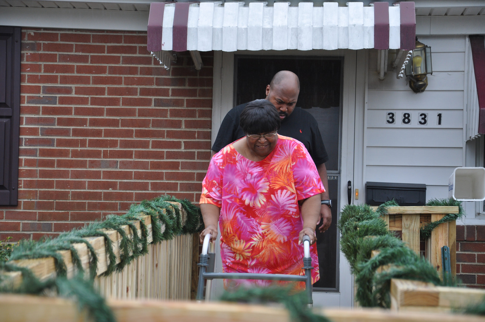 A disabled, elderly woman in the City of Richmond receives a ramp just in time for the holidays.