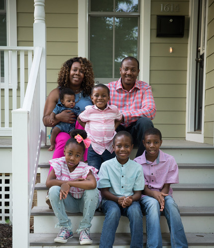 A family of 7 enjoy their new home in Richmond's Northside.
