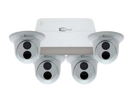 Eclipse 4 Camera HD IP System with 8 Channel NVR with POE