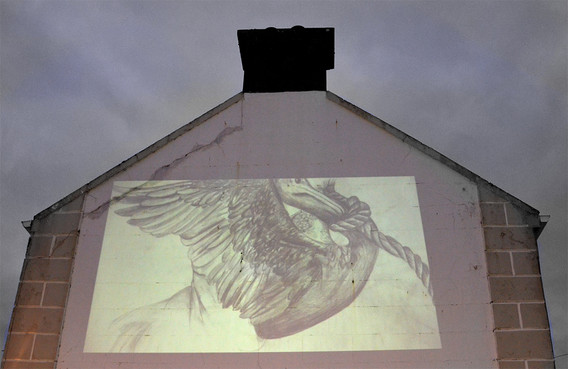 Outside Wall projection by Bairbre Gerag