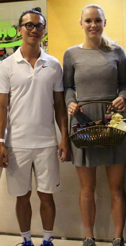 Good times with Caroline Wozniacki