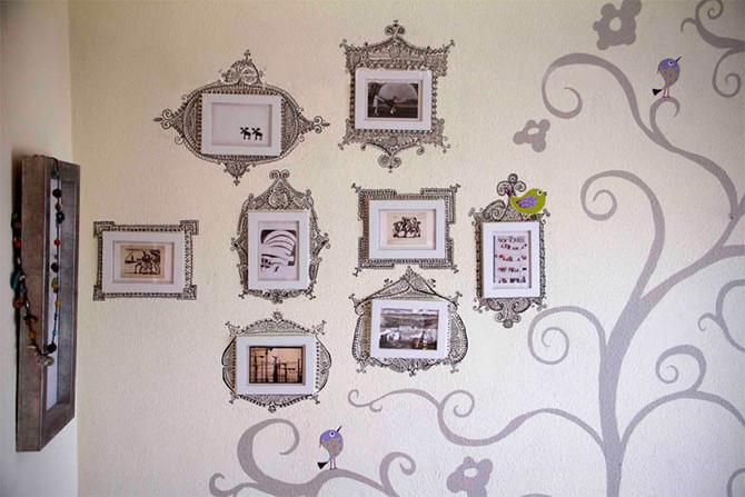 Dibujo pared habitación-salón