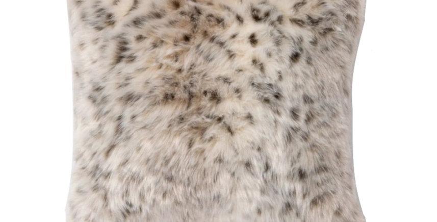 Animal Print Faux Fur Pillow