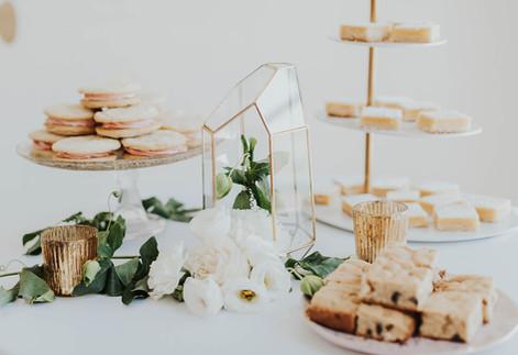 Gold Modern Chic Wedding Dessert Table