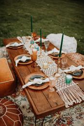micro wedding small wedding table rental