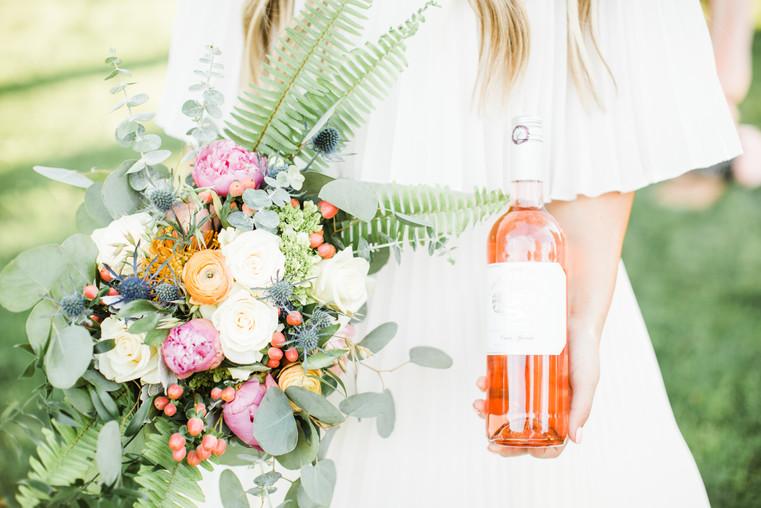 elopement florals gardent party