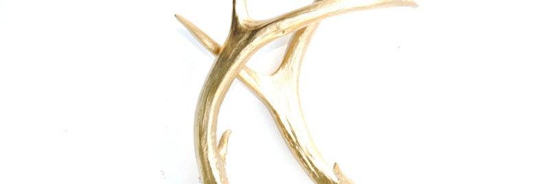 Gold Faux Deer Antlers