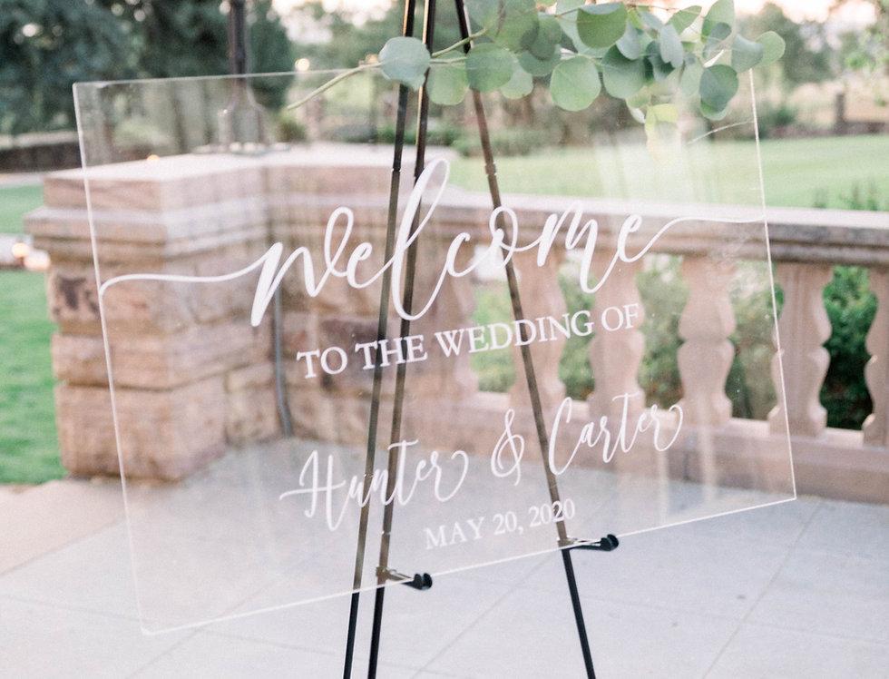 Welcome To The Wedding Of, Custom Acrylic Sign