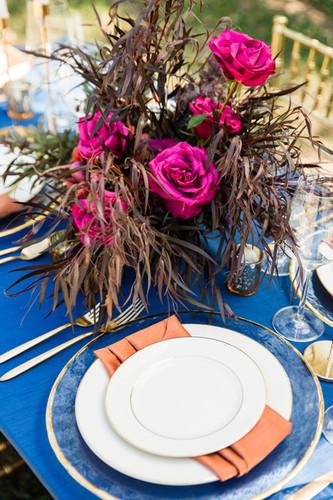 micro wedding decor rentals table