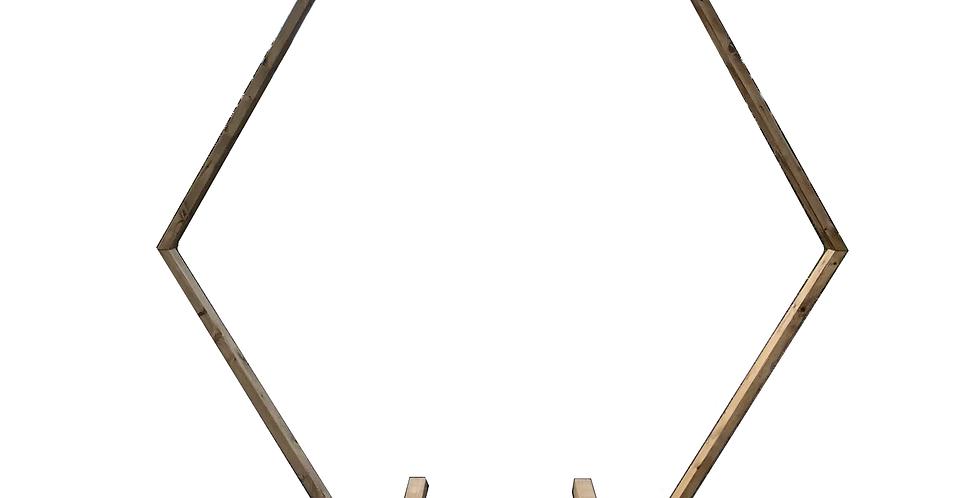 Wooden Hexagon Arch, 7'