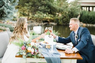 elopement garden party toast