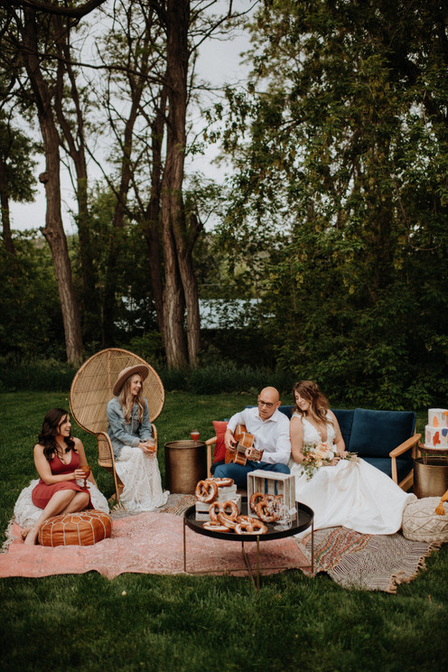 small wedding reception outdoors