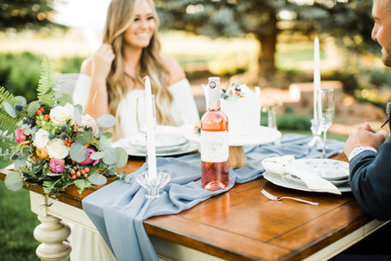 elopement rental decor table