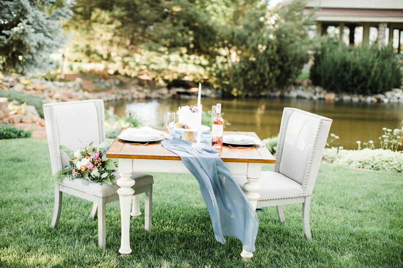 elopement sweetheart table and chairs