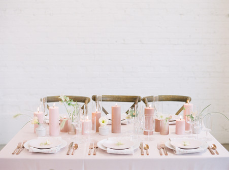 Pink Modern Reception Table