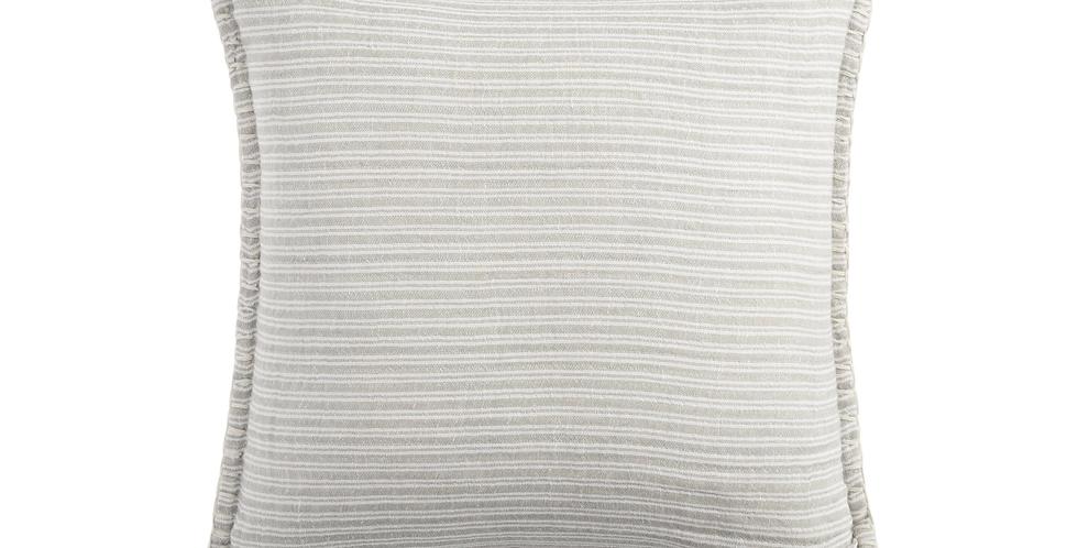 Gray Woven Throw Pillow