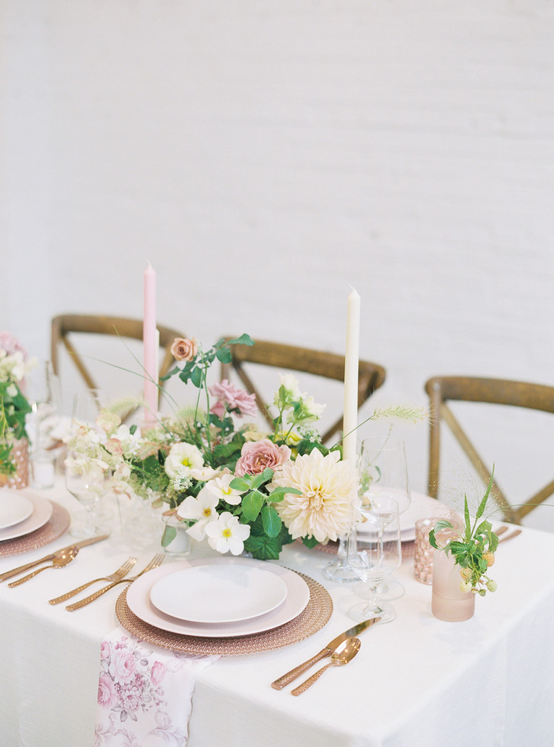 Blush and Gold Wedding Table