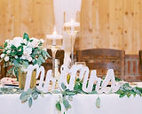 Wedding decor signs for tables