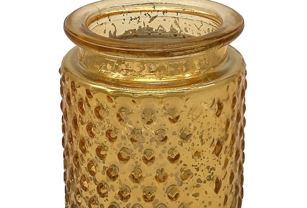 Gold Hobnail Votive