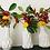 Thumbnail: White Ceramic Bud Vase, Set of 3