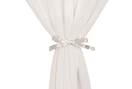 Chiffon Table Runner, Ivory