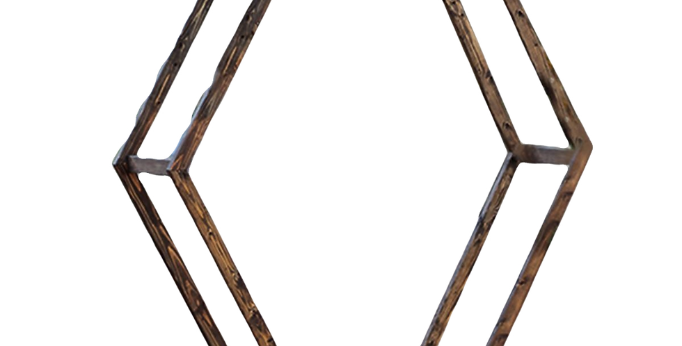 Double Wooden Hexagon Arch, 7.5'