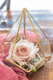 geometric terrarium wedding centerpiece
