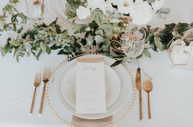 Gold Wedding Tableware