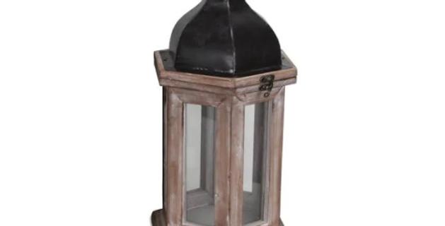 "Industrial Lantern, 14.5""H"