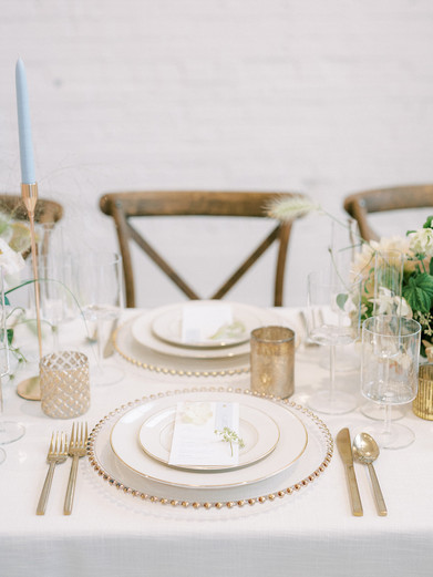 Modern Gold Reception Table