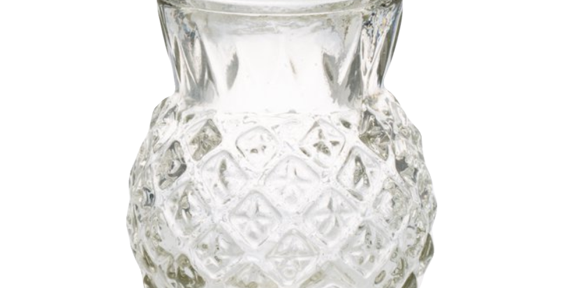 Glass Pineapple Bud Vase