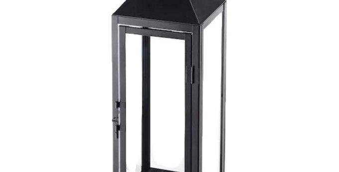 "Black Slim Indoor/Outdoor Lantern, 17""H"