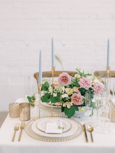 Wedding Table with Gold and Blue