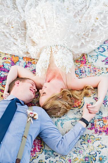 colorado elopement with boho rug 2