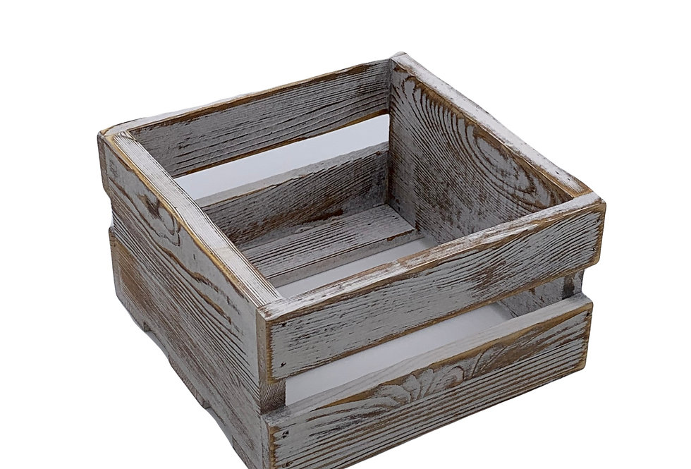Whitewashed Wood Crates