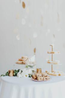 Modern Art Gallery Wedding Dessert Spread