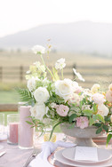 pink candles in vases outdoor wedding co