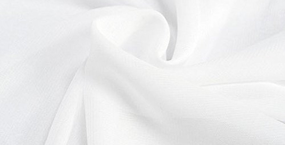 Chiffon Fabric, Sheer White