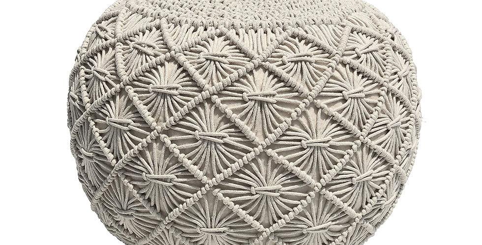 Knitted Macrame Pouf