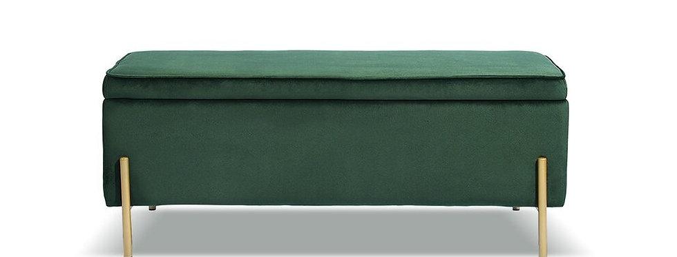Reese Green Velvet Bench