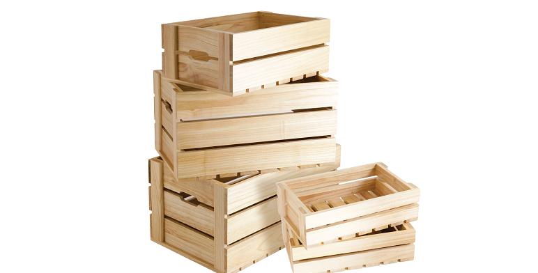 Natural Wooden Crates