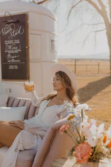 Country Western Lounge Wedding Bride